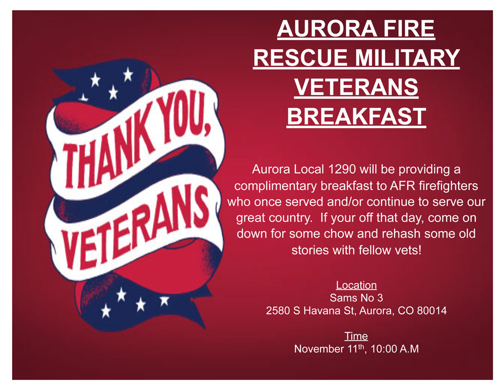 Aurora Fire Rescue Military Veterans Breakfast
